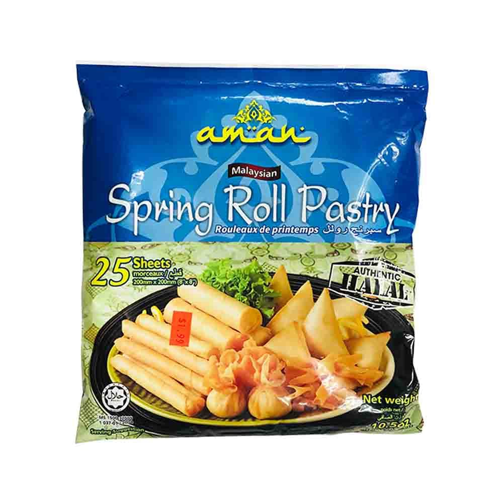 aman spring roll pastry 25 sheets  food and cart